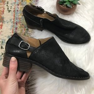 Lucky Brand • Low Cut Side Buckle Ankle Booties